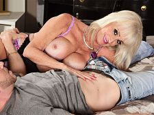 Leah's first movie screw is with a youthful stud
